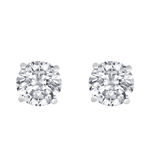 White Gold Solitaire Earring 14 KT in 0.75 Ct Tw | S201973
