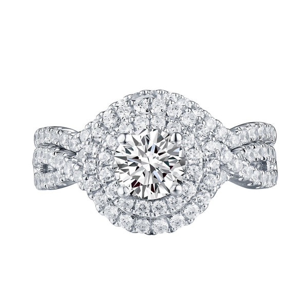 Round Diamond Engagement Ring S201615A and Band Set S201615B