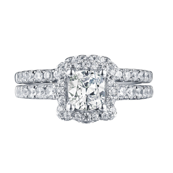 Cushion Cut Engagement Ring S201600A and Band Set S201600B