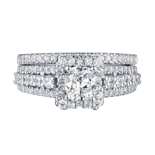 Cushion Cut Diamond Engagement Ring S201609A and Band Set S201609B