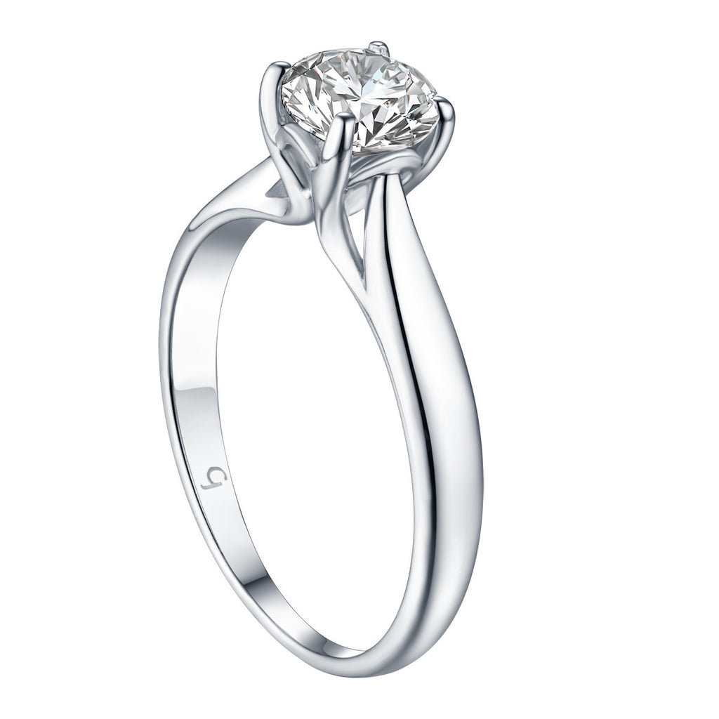 Solitaire Round Engagement Ring | S201578