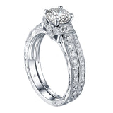 Round Diamond Engagement Ring S201623A and Band S201623B