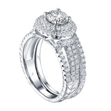 Round Engagement Ring S201596A and Band Set S201596B