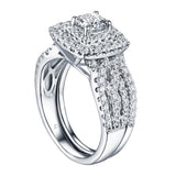 Cushion Cut Engagement Ring S201605A and Band Set S201605B