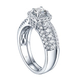 Cushion Cut Diamond Engagement Ring S201611A and Band Set S201611B
