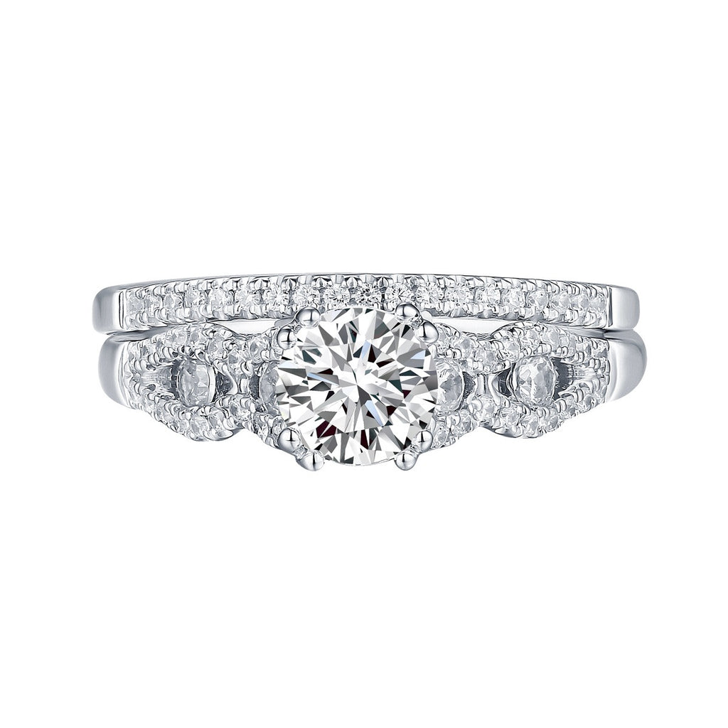 Round Diamond Engagement Ring S201631A and Band Set S201631B