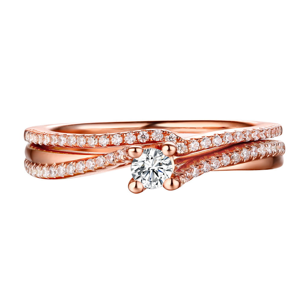 Beau Diamond Engagement Ring S201853A and Band Set S201853B