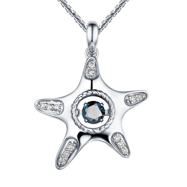 Dancing Diamond Aqua Pendant | QAP0051