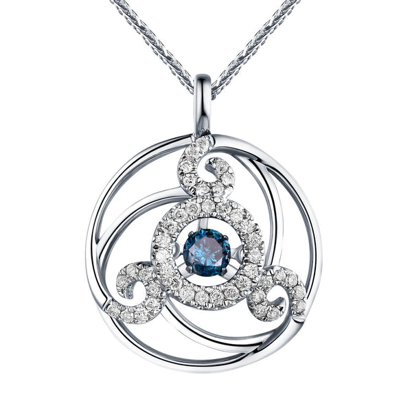 Dancing Diamond Wave Pendant | QAP0056