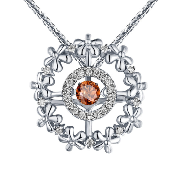 Dancing Diamond Flora Pendant | QAP0057