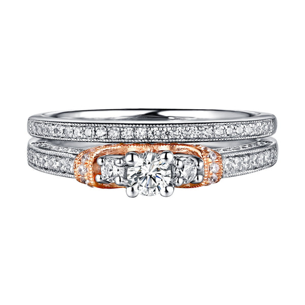 Beau Diamond Engagement Ring S201866A and Band Set S201866B