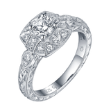 Renaissance Engagement Ring SV0228A and Band SV0228B Set