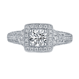 Taj Engagement Ring QAR0230A and Wedding Ring QAR0230B Set