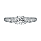 Renaissance Engagement Ring SV0232A and Band SV0232B Set