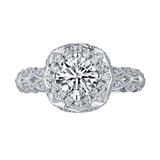 Taj Engagement Ring SV0225A and Wedding Ring SV0225B Set