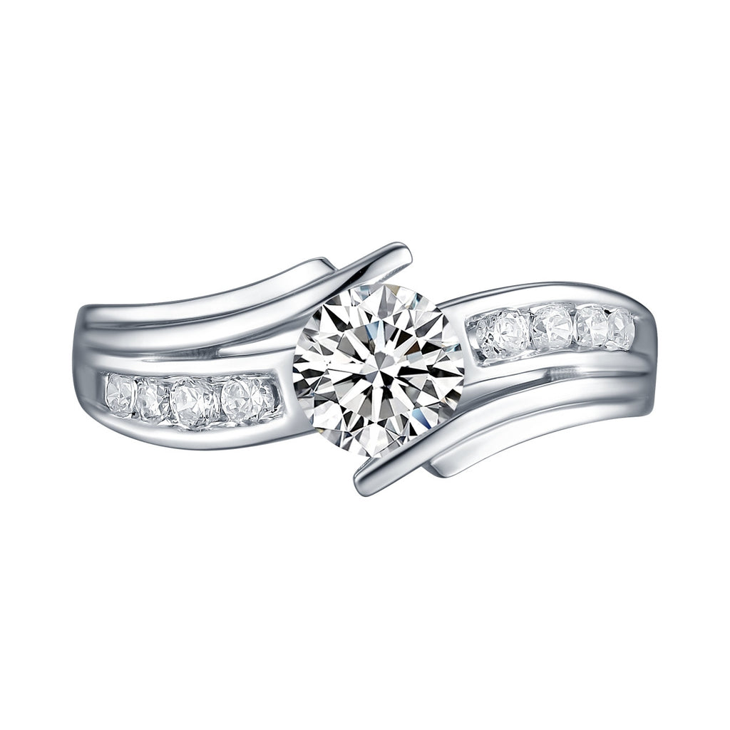 White Gold Round Engagement Ring S2016115A
