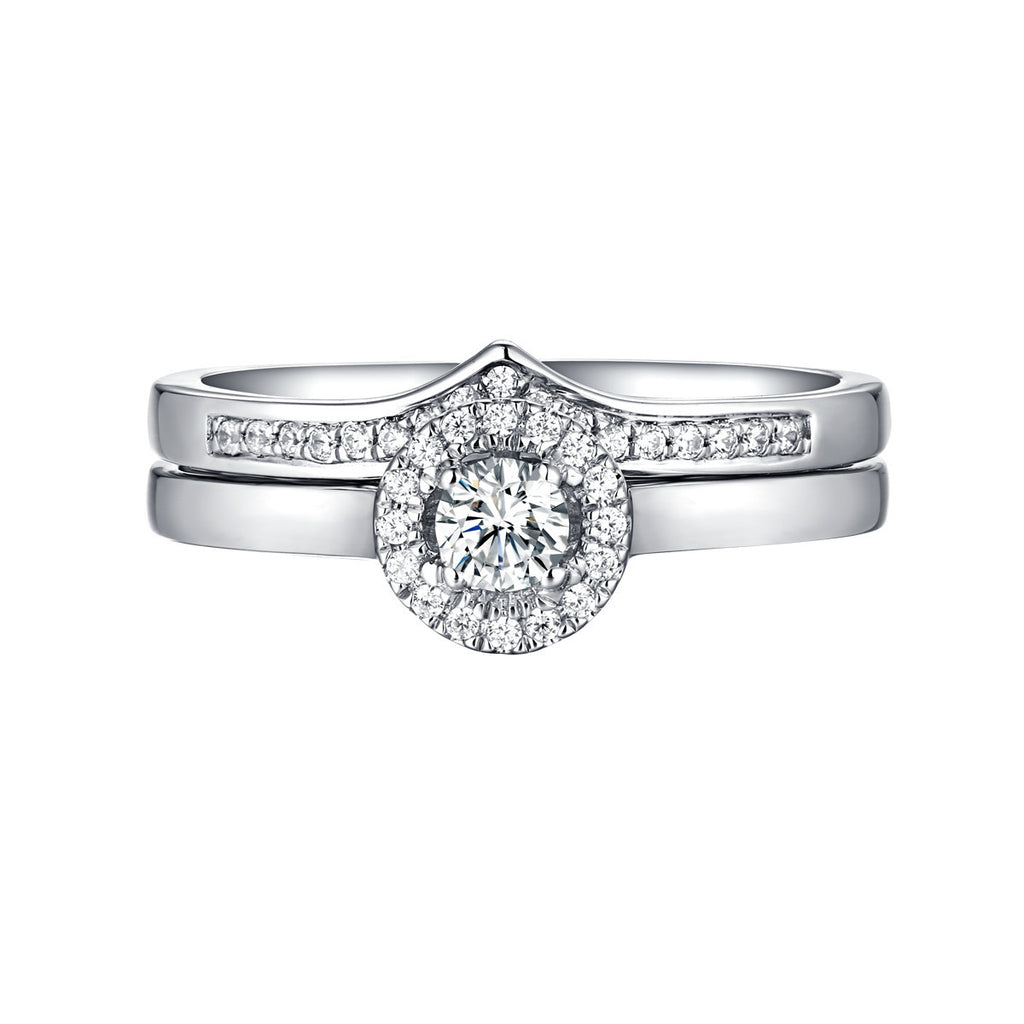 Beau Diamond Engagement Ring S201857A and Band Set S201857B