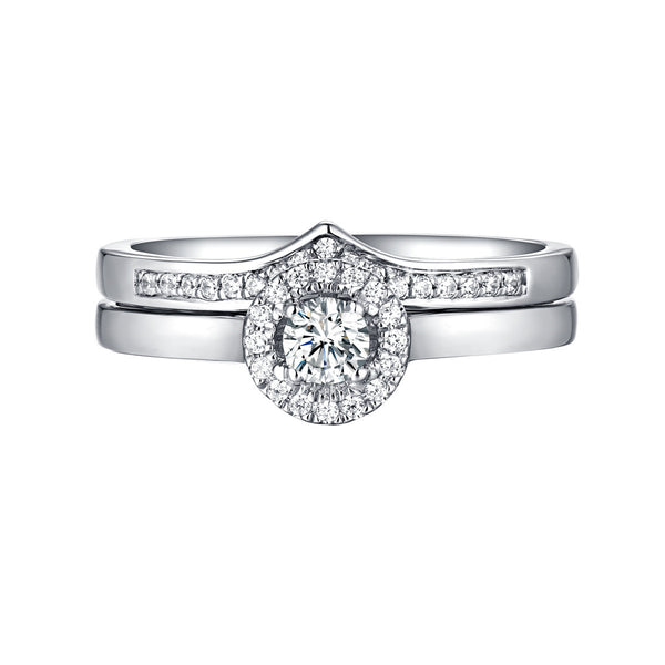 Beau Diamond Engagement Ring S201859A and Band Set S201859B