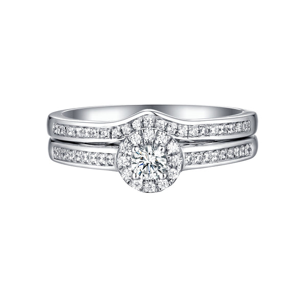 Beau Diamond Engagement Ring S201850A and Band Set S201850B