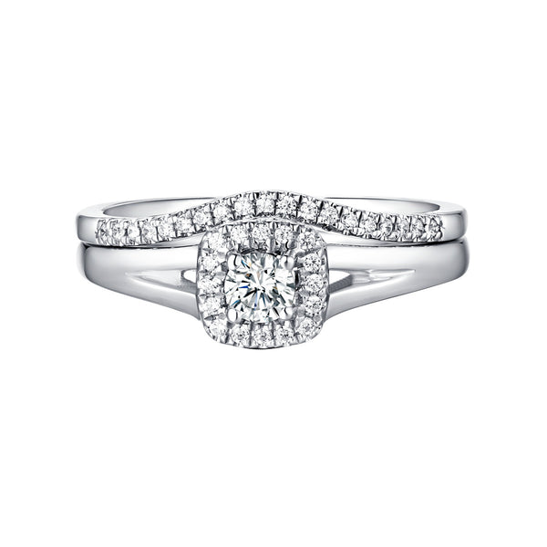 Beau Diamond Engagement Ring S201858A and Band Set S201858B