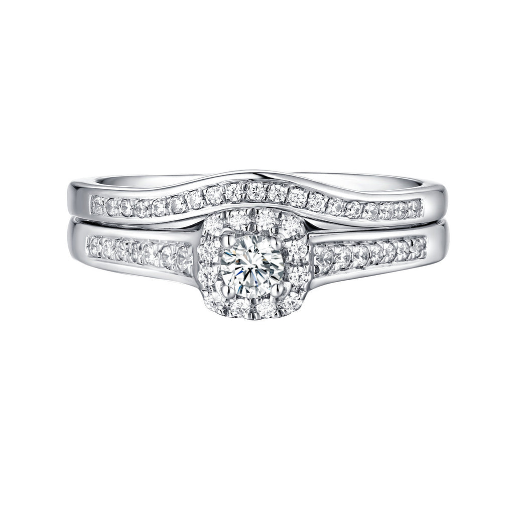 Beau Diamond Engagement Ring S201851A and Band Set S201851B