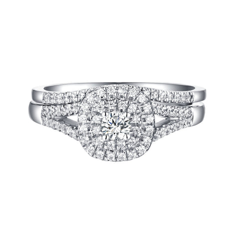Beau Diamond Engagement Ring S201848A and Band Set S201848B