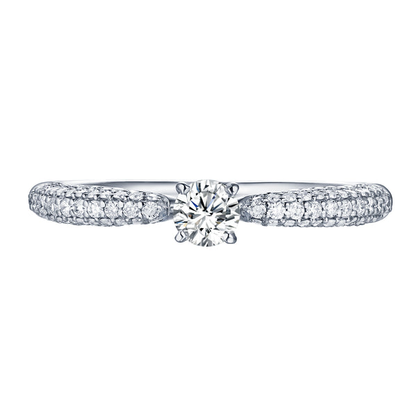 Beau Diamond Engagement Ring S2012010A and Band Set S2012010B