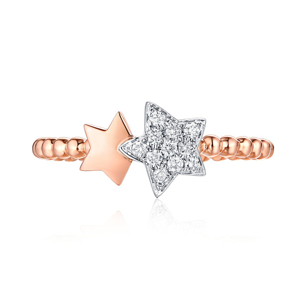 Rose Gold and White Gold Diamond Ring - S2012181