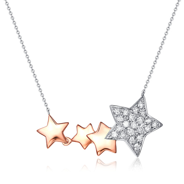 Rose Gold and White Gold Diamond Necklace - S2012182