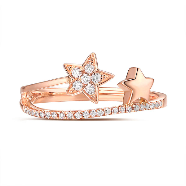 Rose Gold Fashion Diamond Ring - S2012185