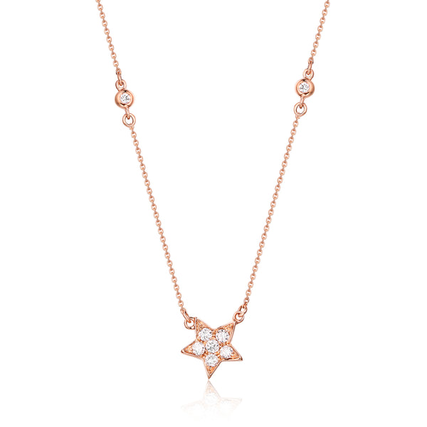 Rose Gold Diamond Necklace - S2012187