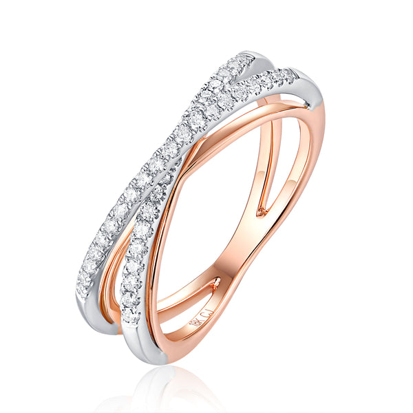 Rose Gold and White Gold Fashion Diamond Ring - S2012190