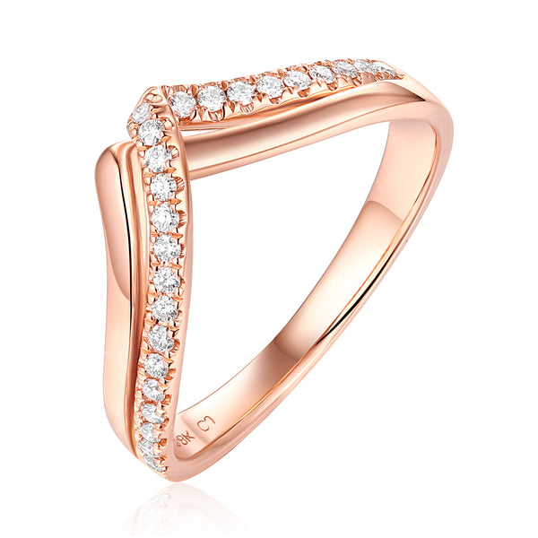 Rose Gold Diamond Fashion Ring - S2012194