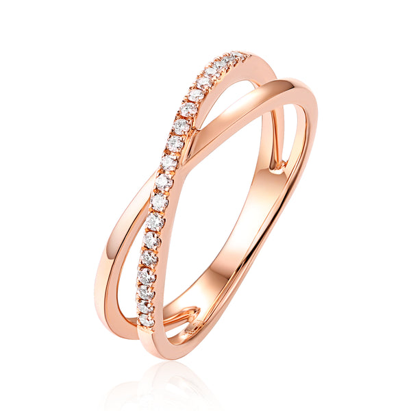 Rose Gold Diamond Fashion Ring - S2012195