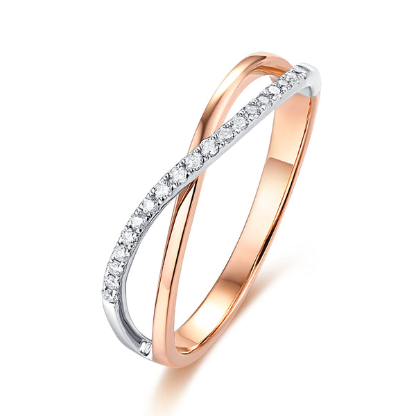 Rose Gold and White Gold Diamond Fashion Ring - S2012196