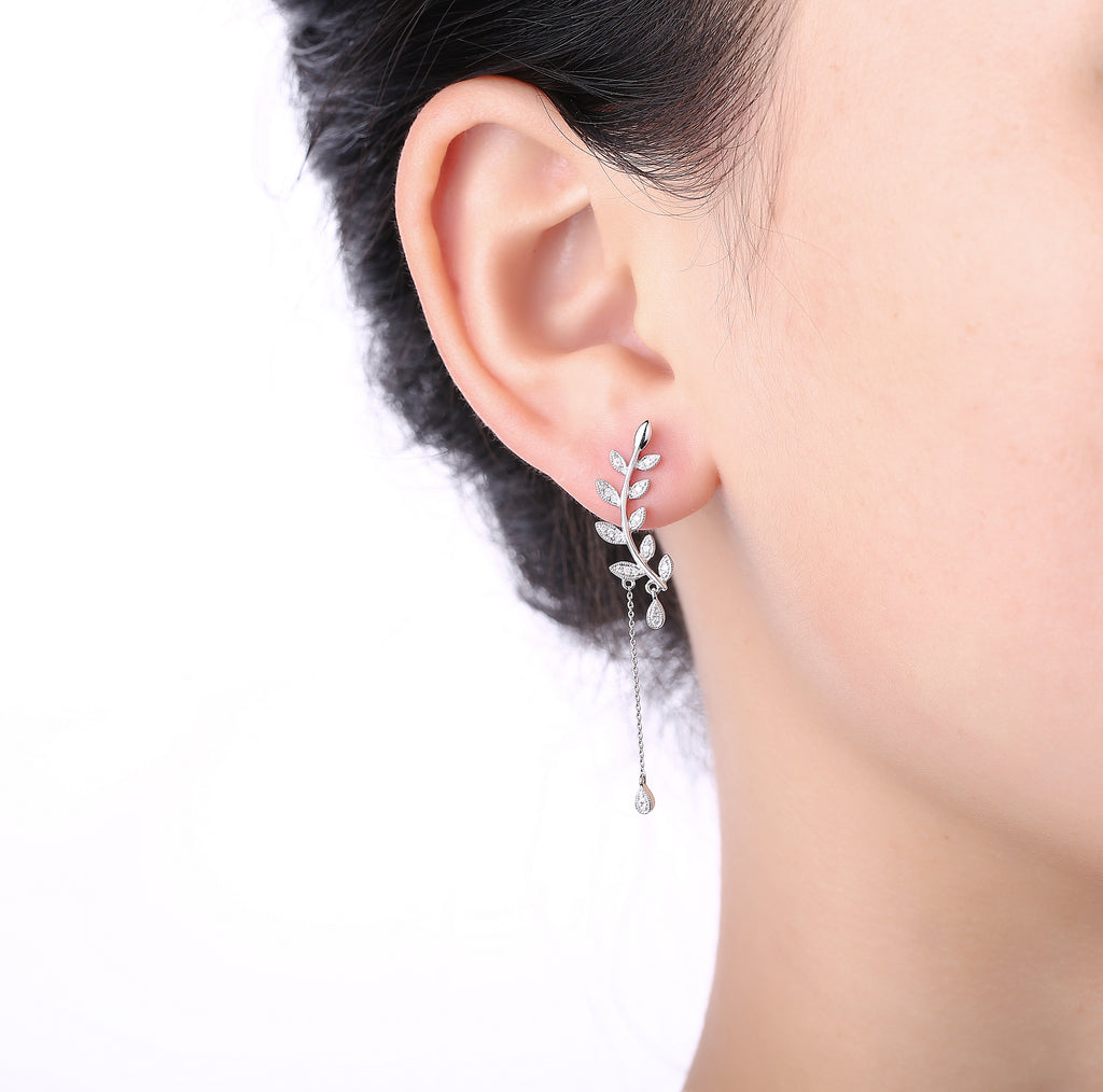 White Gold Diamond Fashion Stackable Earrings - S2012272