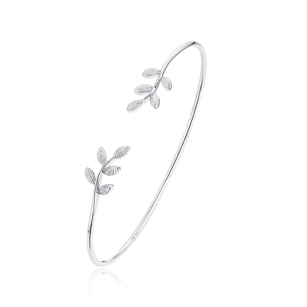 14KT White Gold Leaf Bracelet - S2012275