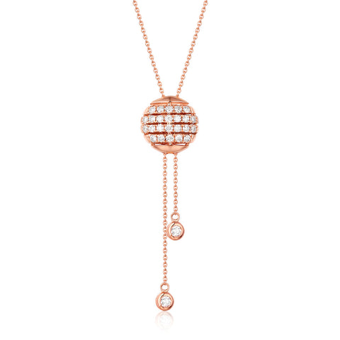 14KT Rose Gold Fashion Diamond Necklace - S2012280