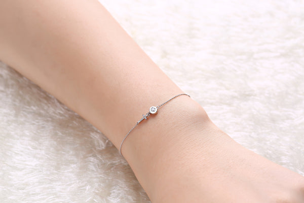 White Gold Fashion Diamond Bracelet - S2012283