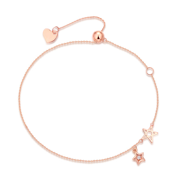 Rose Gold Fashion Diamond Bracelet - S2012284
