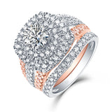 Halos Round Engagement Ring S2012677A and Band Set S2012677B