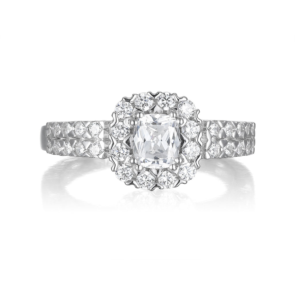 Cushion Cut Diamond Engagement Ring S201511