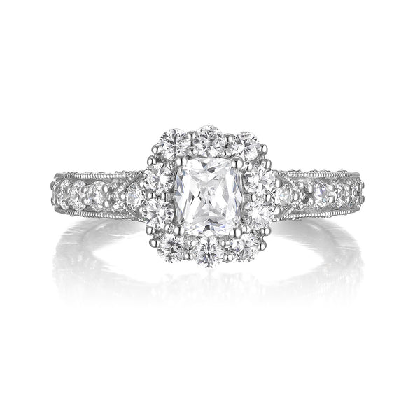 Cushion Cut Diamond Engagement Ring S20151A and Band Set S20151B