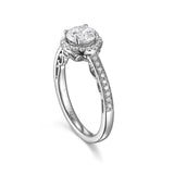 Round Diamond Halo Engagement Ring S201532A and Band Set S201532B