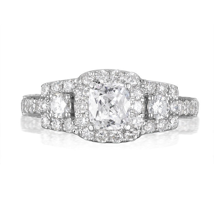 Cushion Cut Diamond Engagement Ring S201542A and Band Set S201542B
