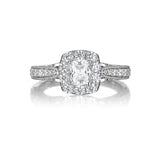 Cushion Cut Diamond Engagement Ring S20154A and Band Set S20154B