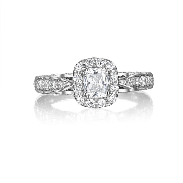 Cushion Cut Diamond Engagement Ring S20155A and Band Set S20155B