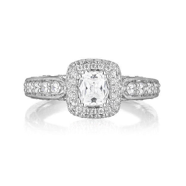 Cushion Cut Diamond Engagement Ring S20156A and Band Set S20156B