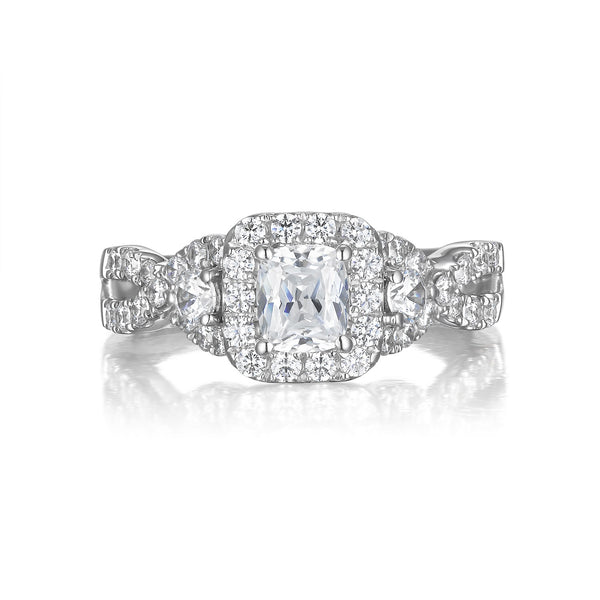 Cushion Cut Diamond Engagement Ring S20157A and Band Set S20157B