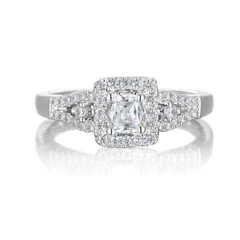 Cushion Cut Diamond Engagement Ring S20158A and Band Set S20158B